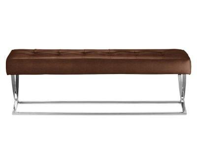 James Nickel & Leather Bench #williamssonoma
