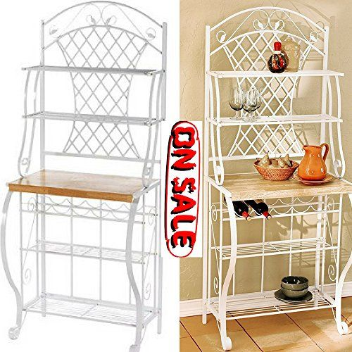 Bakers Rack With Wine Storage Kitchen Corner Bakers Rack Shelf