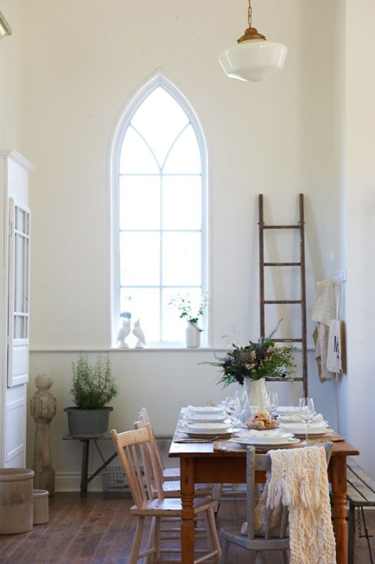 Calm + Bright: A Church Conversion - Birch + Bird Vintage Home Interiors: