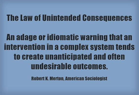 The Law of Unintended Consequences An adage or idiomatic...