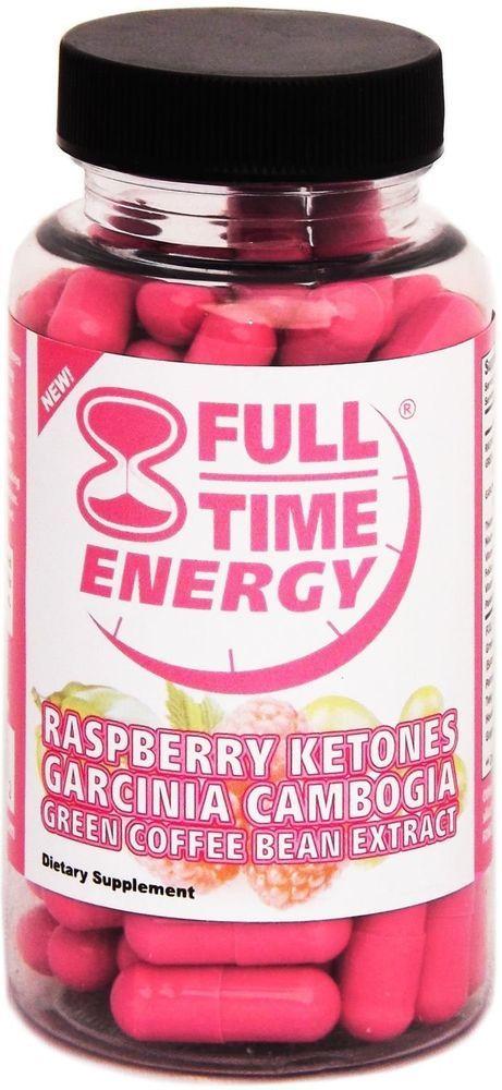 Full-Time Energy Super Combo Pill 30 Capsules with Raspberry Ketones Garcinia...