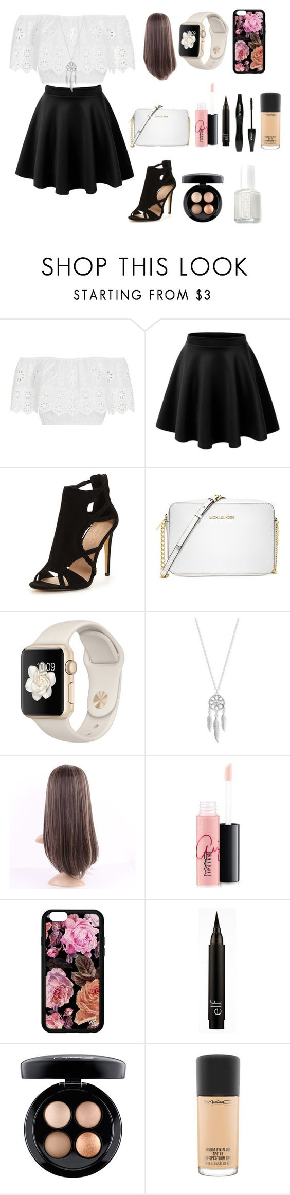 """""""Made by Serina"""" by gamingwithana on Polyvore featuring Miguelina, Michael Kors, Lucky Brand, MAC Cosmetics, Lancôme and Essie"""