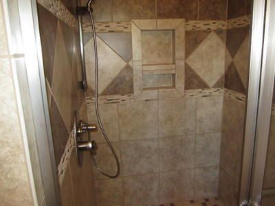 tile showers are the bomb!