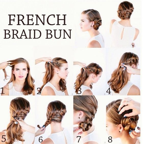 Remarkable French Braid Buns Braid Buns And French Braids On Pinterest Short Hairstyles For Black Women Fulllsitofus