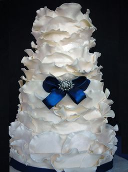 white ruffle cake . . . Is this really an edible cake???  It's gorgeous!
