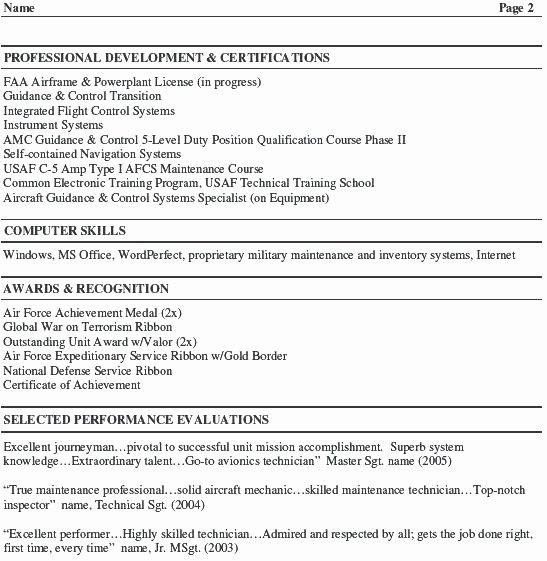 Unique Aircraft Mechanic Resume Template In 2020 Sample Resume Resume Resume Template