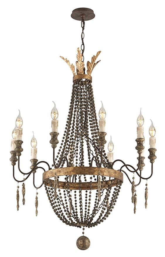 Troy Lighting F3536 Delacroix Candle Chandelier Light 10 Light 200 Watts French Bronze Ama Chandelier Lighting Small Chandelier Candle Style Chandelier