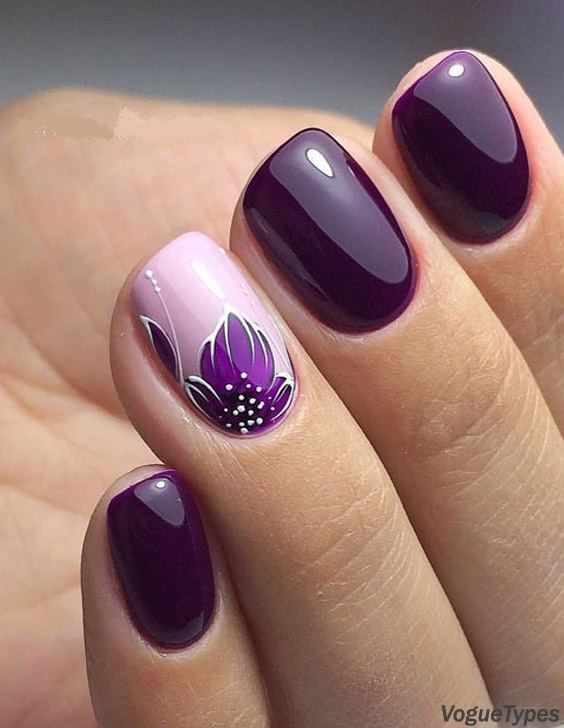 Stylish Nail Art Design Images Easy To Do At Your Home Purple Nail Art Short Square Nails Stylish Nails Art
