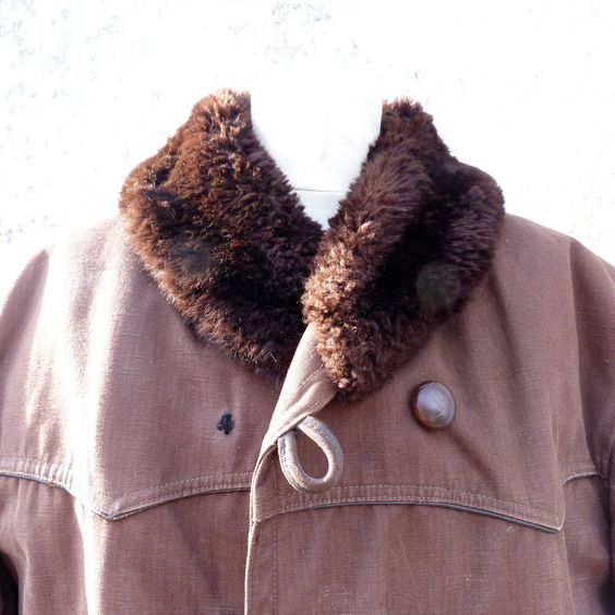 "C=47"", W=47"" L=37""Vintage 1930 /1950 French Canadienne Parka Jacket Worker…"