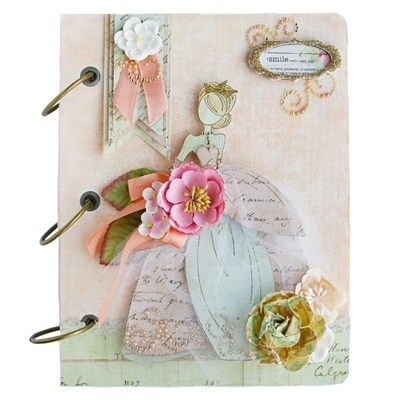 Prima Fancy Floral Canvas Album Kit from Create and Craft USA