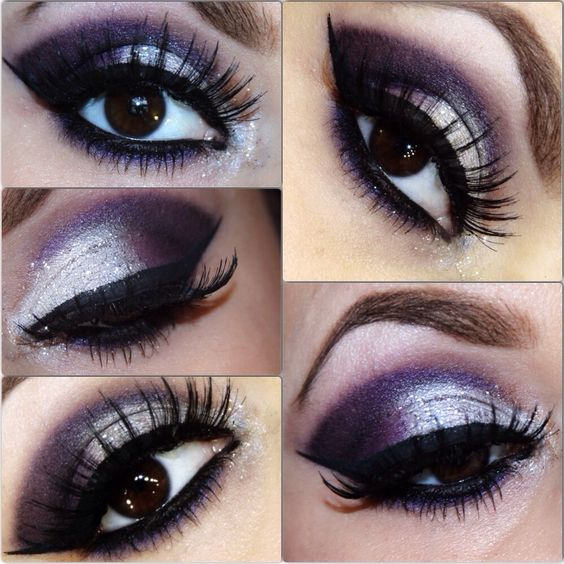 Purple .& silver glitter cut crease for New Year's Eve http://Instagram.com/april_lynn_miller