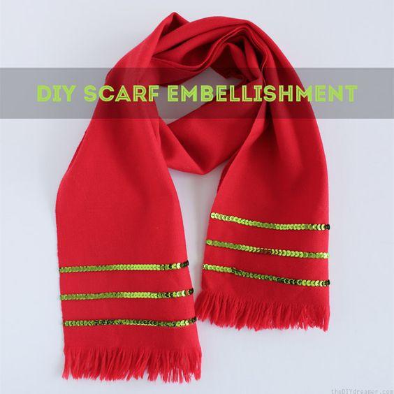DIY Scarf Embellishment Tutorial - Very easy!