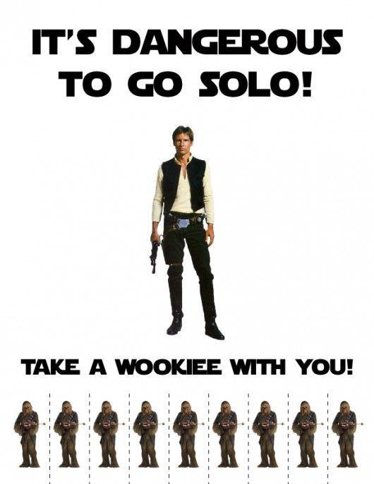 It's Dangerous To Go Solo... Take A Wookie With You! Warum Du wie Han Solo immer einen Wookie dabei haben solltest.