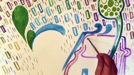 O artista plástico Fábio Woody criou um canal no youtube para compartilhar uma nova arte: ele ilustra letras de músicas de bandas brasileiras e grava tudo pra você ver, como um videoclipe.