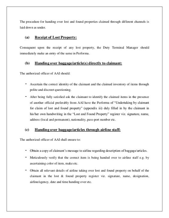 sample complaint letter airline lost luggage claim delayed example - baggage handler resume