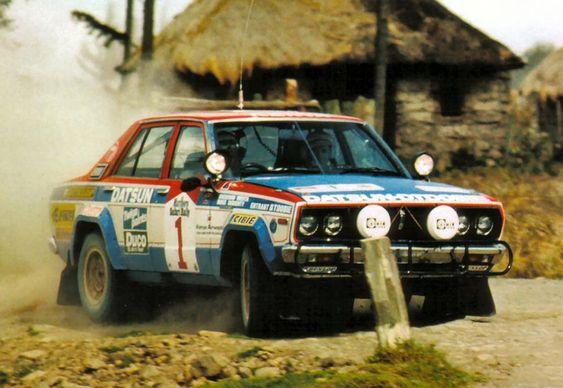 Safari Rally Shekhar Mehta 1980 Datsun 160J