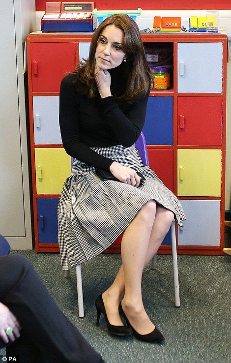 The Duchess listens to teachers discuss the mental health challenges their pupils face dur...: