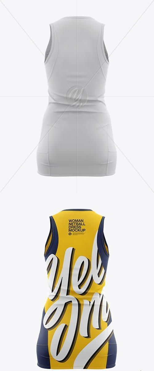 Netball Dress With V-Neck HQ Mockup