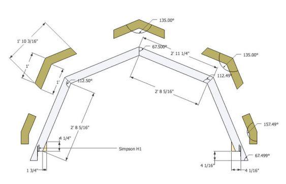 Micro Gambrel Roof Plan   framing   Pinterest   Gambrel