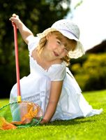 Spring birthday garden party ideas suitable for children 1-8 years of age. Includes Nature Hunt,  Catching Butterflies and Monster Bug Race