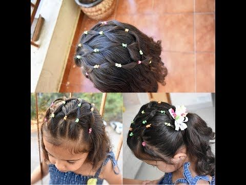 Easy Elastic Rubber Band Hairstyles For Girls Hair Net Style