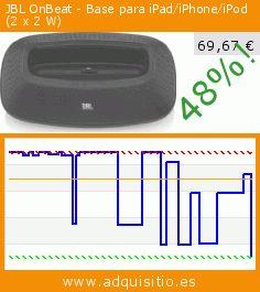 JBL OnBeat - Base para iPad/iPhone/iPod (2 x 2 W) (Electrónica). Baja 48%! Precio actual 69,67 €, el precio anterior fue de 132,89 €. https://www.adquisitio.es/jbl/onbeat-base-0