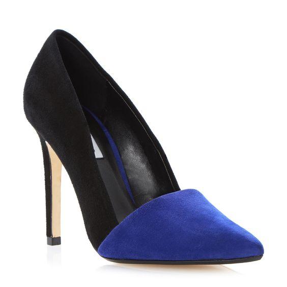 DUNE LADIES ANALISE - Contrast Vamp Pointed Toe Court Shoe £79 | Dune London