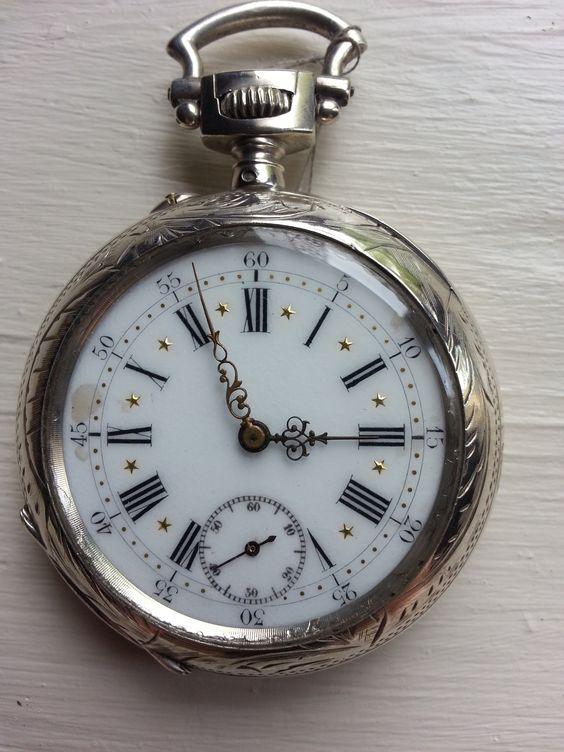 se faire plaisir avec une montre ancienne montre de poche anonyme en argent montres de poche. Black Bedroom Furniture Sets. Home Design Ideas