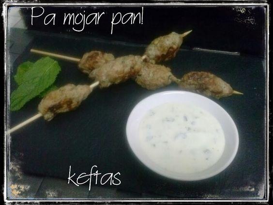 pa mojar pan!: Keftas de cordero con salsa de yogurt