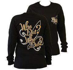 Southern Couture New Orleans Saints Who Dat Who Dat Fleur De Lis Girli | SimplyCuteTees
