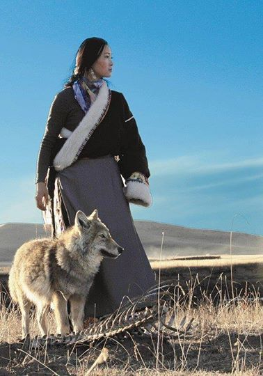 Steppe nomad woman in Central Asia.: