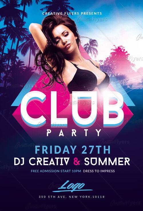 Summer Club Party Flyer Templates Psd Party Flyer Flyer