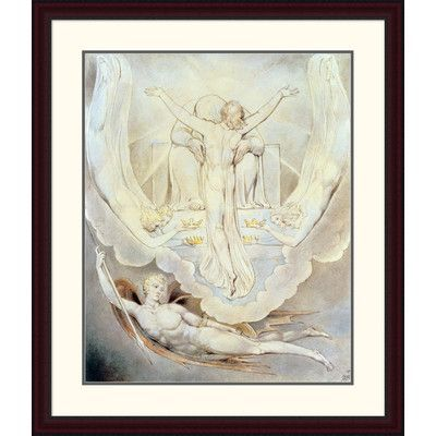 """Global Gallery 'Christ Offers to Redeem Man' by William Blake Framed Painting Print Size: 38"""" H x 32.35"""" W x 1.5"""" D"""