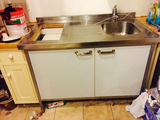 ikea free standing mini-kitchen (all -in-one sink-fridge storage