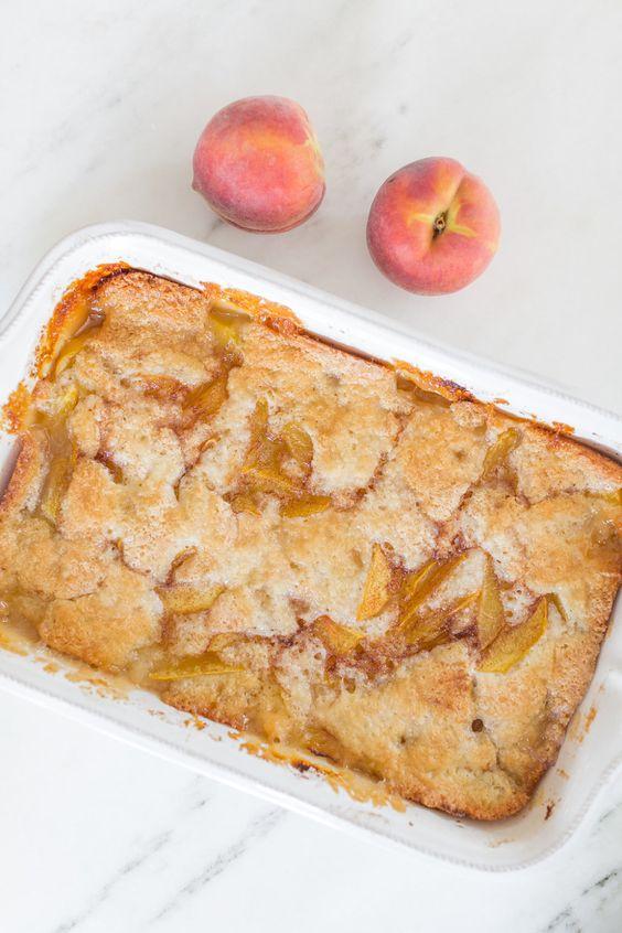 Old Fashioned Peach Cobbler | Gluten Free Peach Cobbler