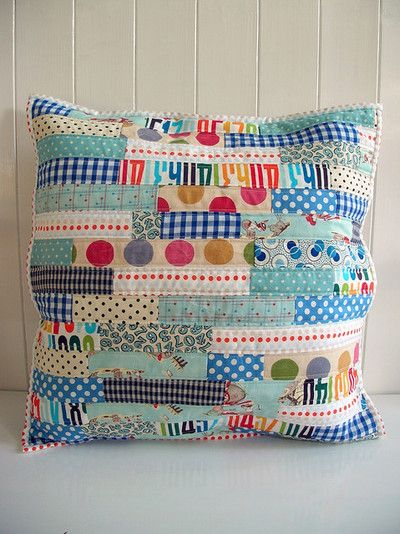 fun quilted pillow