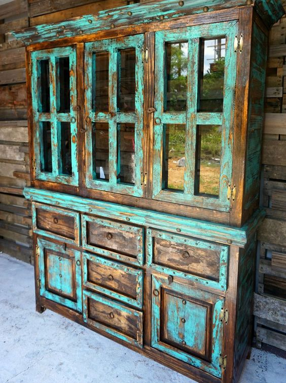 San Antonio Rustic Hutch - Sofia's Rustic Furniture - a perfect piece for a ranch, log cabin, or any western home.