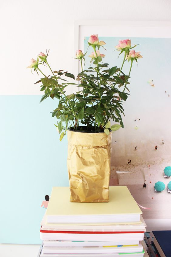 Turn an ordinary sugar bag into an adorable planter with a coat of Martha Stewart Crafts paint! Check out the tutorial by @poppytalk.
