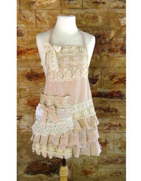 Pink linen apron by Miss Rose and Sister Violet