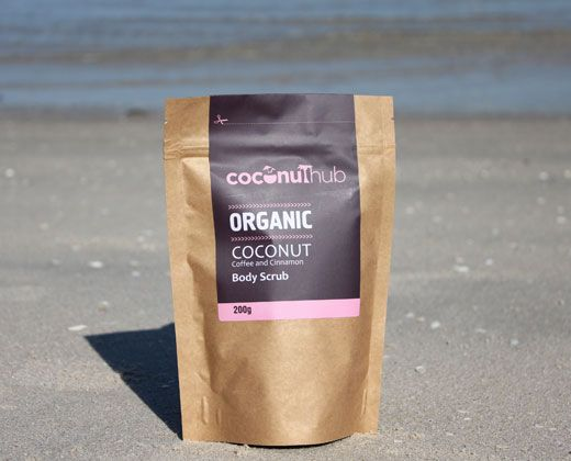 Organic coffee body scrub