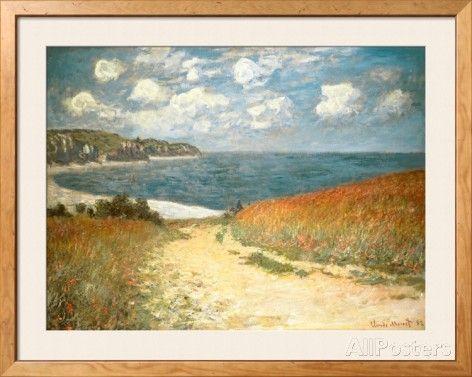 Path Through the Corn at Pourville, c.1882 Prints by Claude Monet - AllPosters.co.uk
