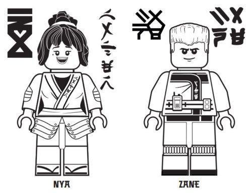 Coloring Page Ninja Jay Ninjago Coloring Pages Lego Coloring