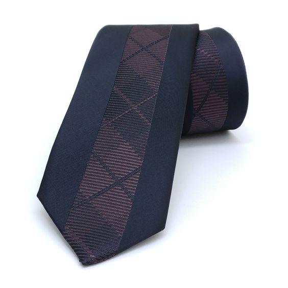 "Black and brown dotted, striped men's tie 6 cm (2,36"") SL-145. Black and brown dotted, striped men's necktie SL-145 Width : 6 cm (2,36"") Length : 150 cm (59,06"")."
