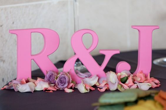 Bride & Groom Initials