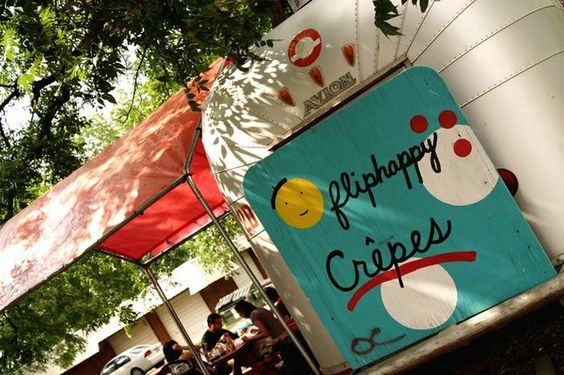 Flip Happy Crepes- Austin, TX | Nutella Crepe with Strawberry and Banana, Ham & Gruyere