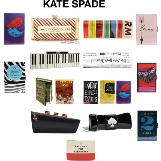 kate spade clutches, created by esterp on Polyvore