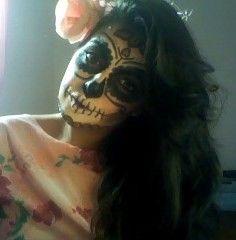 Sugar skull 2 make up <3