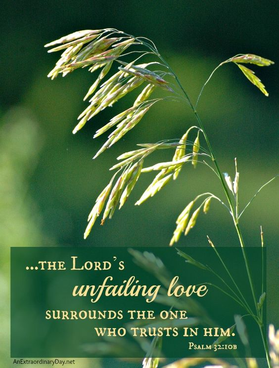 #Scripture :: Psalm 32:10b ~The Lord's unfailing #love :: AnExtraordinaryDay.net