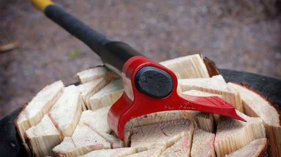 Physics-exploiting axe splits wood in record time. Very cool tool from Finland! Chopping wood actually looks easy. It will set you back about $280 including shippiing : http://www.vipukirves.fi/english/index.htm