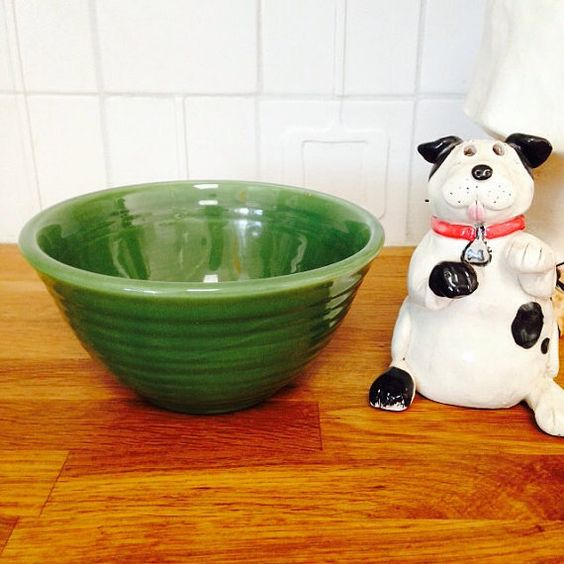 Bauer Ringware Bowl number 36 Green Bauer Bowl  Bauer by KimBuilt